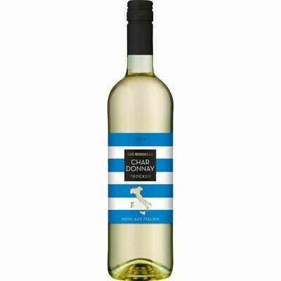 Grosspackung San Mondello Chardonnay Trevenezie IGP 11,0 % vol 6 x 0,75 Liter = 4,5 Liter