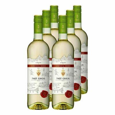 Grosspackung Lorenzo de' Medici Il Principe Pinot Grigio Puglia IGP 11,5 % vol 6 x 0,75 Liter = 4,5 Liter
