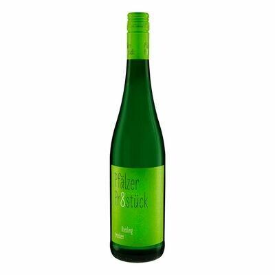 Grosspackung Pfälzer Pr8stück Riesling Qualitätswein Pfalz trocken 12,5 % vol 6 x 0,75 Liter = 4,5 Liter