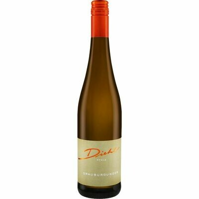 Grosspackung Weingut Diehl Grauer Burgunder Qualitätswein Pfalz trocken 13,0 % vol 6 x 0,75 Liter = 4,5 Liter
