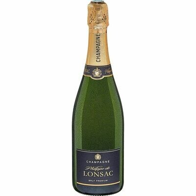 Grosspackung Philippe de Lonsac Champagner 12,0 % vol. 6 x 0,75 Liter = 4,5 Liter