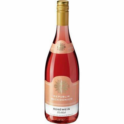 Grosspackung Roséwein aus der Republik Nordmazedonien 10,0 % vol 6 x 1 Liter = 6 Liter