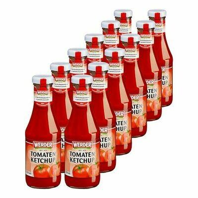 Grosspackung Werder Tomatenketchup 450 ml, 12er Pack = 5,4 Liter