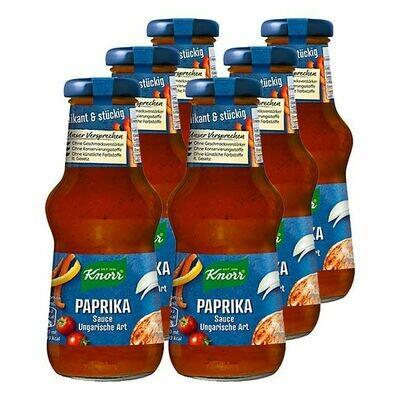 Grosspackung Knorr Paprikasauce ungarische Art 250 ml, 6er Pack = 1,5 Liter