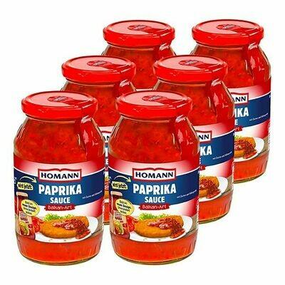 Grosspackung Homann Paprika Sauce Balkan Art 500 ml, 6er Pack = 3 Liter