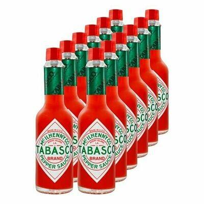 Grosspackung Tabasco Sauce rote Pfeffersauce 60 ml, 12er Pack = 720 ml
