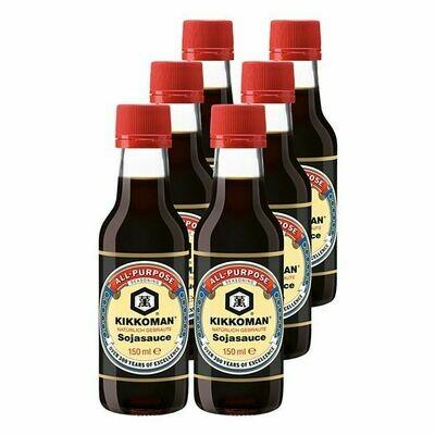 Grosspackung Kikkoman Soja Sauce 150 ml, 6er Pack = 0,9 Liter