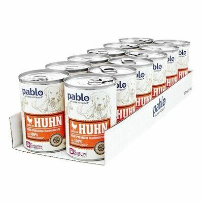 Grosspackung Pablo Hundefutter Naturals Huhn 400 g, 12er Pack = 4,8 kg