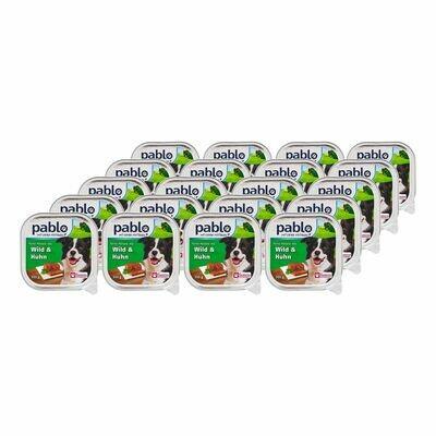 Grosspackung Pablo Hundenahrung Wild & Huhn 300 g, 20er Pack = 6 kg