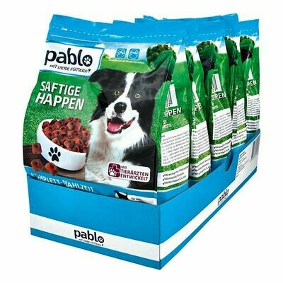 Grosspackung Pablo Hundefutter Saftige Happen Rind 1,5 kg, 5er Pack = 7,5 kg