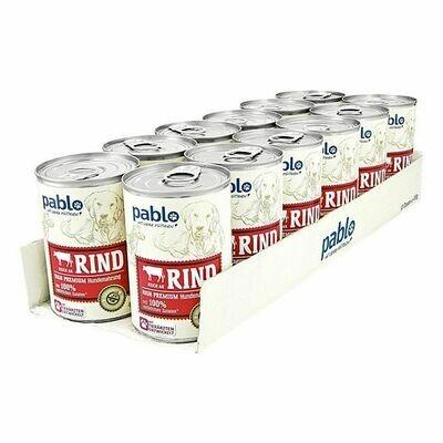 Grosspackung Pablo Hundefutter Naturals Rind 400 g, 12er Pack = 4,8 kg