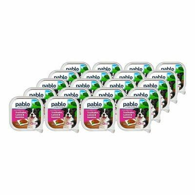 Grosspackung Pablo Hundenahrung Truthahn, Lamm & Gemüse 300 g, 20er Pack = 6 kg