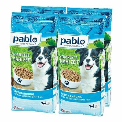Grosspackung Pablo Hundefutter Kraftmenü 3 kg, 4er Pack = 12 kg
