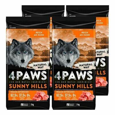 Grosspackung 4 PAWS Hundetrockenfutter Huhn 2 kg, 4er Pack = 8 kg