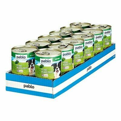 Grosspackung Pablo Hundefutter Wild 400 g, 12er Pack = 4,8 kg