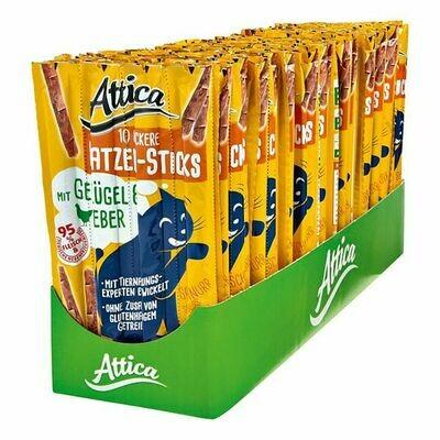 Grosspackung Attica Katzenfutter Sticks Geflügel & Leber 50 g, 30er Pack = 1,5 kg
