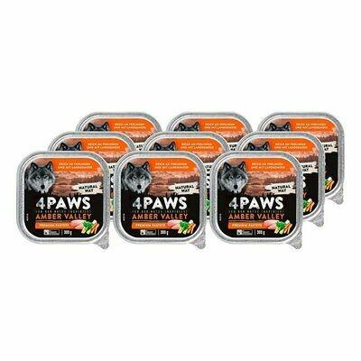 Grosspackung 4 PAWS Hundenahrung Perlhuhn Gemüse 300 g, 9er Pack = 2,7 kg