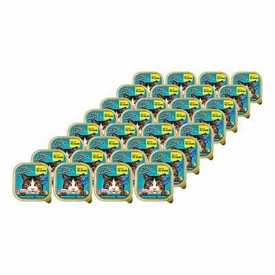 Grosspackung Attica Katzennahrung MSC Seelachs 100 g, 32er Pack = 3,2 kg