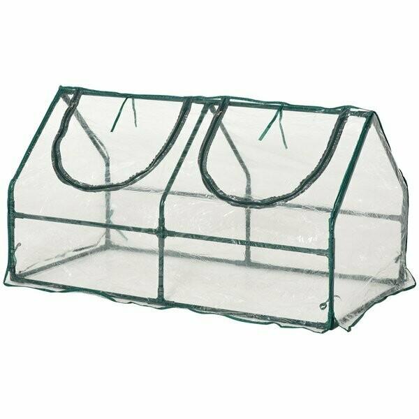 Outsunny® Gewächshaus mit Fenster PVC Treibhaus Tomatenhaus Frühbeet 120x60x60cm Grün
