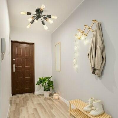 HOMCOM® Deckenleuchte Deckenlampe Wandlampe Bürolampe LED Glas Deckenbeleuchtung