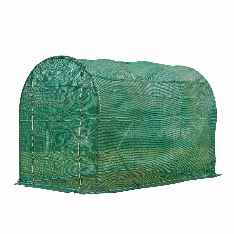 Outsunny® Polytunnel-Gewächshaus Pflanzenabdeckung Frostschutz Polyethylen Schutz 300L x 300B x 200H cm