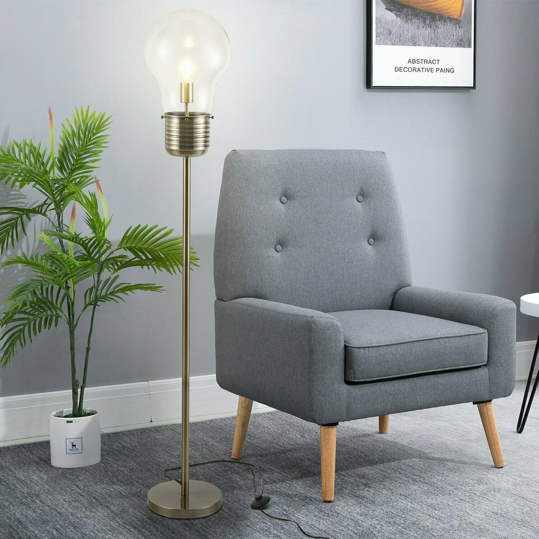 HOMCOM® Stehlampe industriale Stil LED Standleuchte Stehleuchte Sockel E27 Bronze