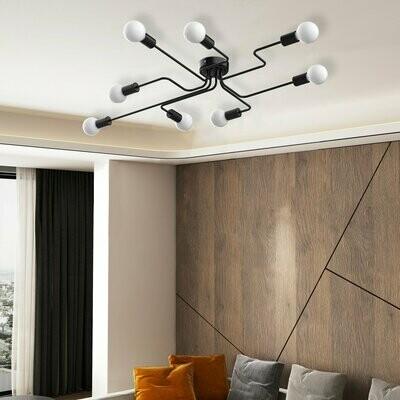 HOMCOM® Deckenleuchte klassisch in Rohrform mit 8Lampen und Metallfuß für Home & Office