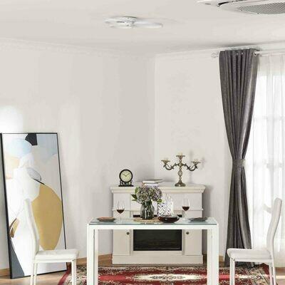 HOMCOM® Deckenleuchte moderne Dreikreis Metallfuss Esszimmer Metall Aluminium Acryl