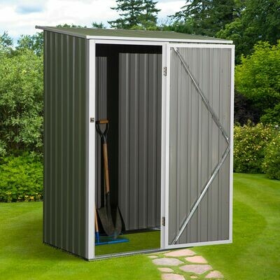 Outsunny® Gartenhaus Metallgerätehaus für den Aussenbereich Tür Outdoor Stahl Grün