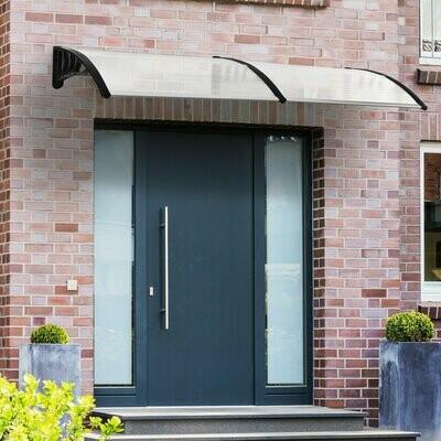 Outsunny® Pultvordach Vordach für Haustür 80x195x23 cm 5mm Polycarbonat Alu Transparent