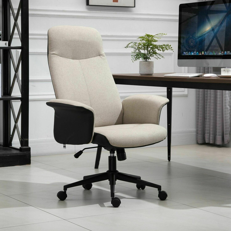 Vinsetto® Bürostuhl Drehstuhl mit Wippenfunktion Armlehne höhenverstellbar Kunstleder
