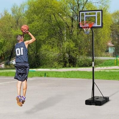 HOMCOM® Mobiler Basketballständer Basketballkorb höhenverstellbar 250-350cm Stahl