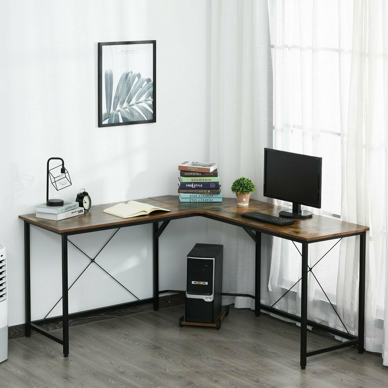 HOMCOM® Computertisch L-förmiger Eckschreibtisch Schreibtisch Bürotisch