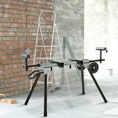 DURHAND® Arbeitstisch für Kapp- und Gehrungssägen Kappsäge Stahl 123,5-245 cm