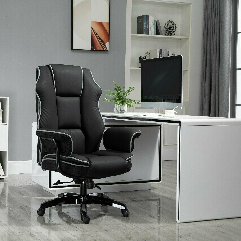 Vinsetto® Ergonomischer Bürostuhl mit Wippfunktion Drehstuhl höhenverstellbar Kunstleder