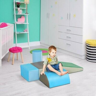 HOMCOM® Riesen-Bausteinset 5er-Set Schaumstoff Bausteine Bauspielzeug für 1-3 Jahre alt Kinde