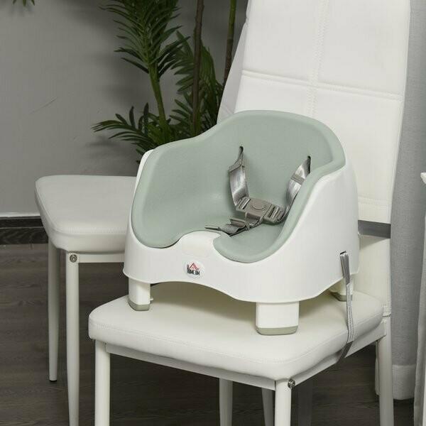 HOMCOM® Kinder Boostersitz Hochstuhl Sitzerhöhung Babysitz zum Füttern höhenverstellbar PP PU Grün