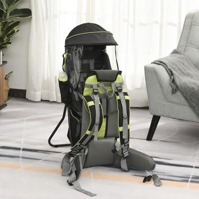 HOMCOM® Babytrage Rucksack für Reisen für Kinder zwischen 6-36 Monate Alu Grün