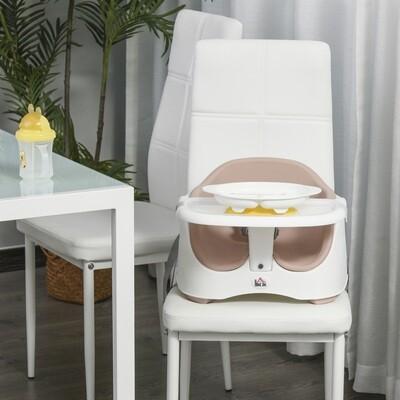 HOMCOM® Kinder Boostersitz Hochstuhl Sitzerhöhung Babysitz zum Füttern höhenverstellbar PP PU Rosa