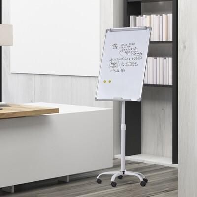 Vinsetto® Whiteboard Magnetisch an Rollen Höhenverstellbar Trocken Abwischbar Stiftablage