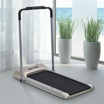 HOMCOM® Elektrisch Laufband mit LCD Display, Faltbar Fitnessgeräte 1-10Km/h Stahl