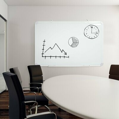 Vinsetto® Doppelseitige Whiteboard & Kreidetafel Tafel mit Stiftablage Memoboard Weiss+Grün