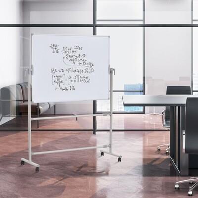 Vinsetto® Doppelseitige Whiteboard 360° Magnetisch Breitenverstellbar Alu-legierung