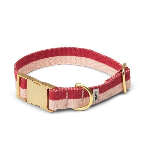 TADAZHI HALSBAND MY RED POWDER COLLAR Breite 2,3 cm, Länge einstellbar von 27 - 46,5 cm.