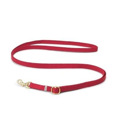 TADAZHI HUNDELEINE MY RED LEAD1,5 cm, Länge einstellbar von 94 - 180 cm