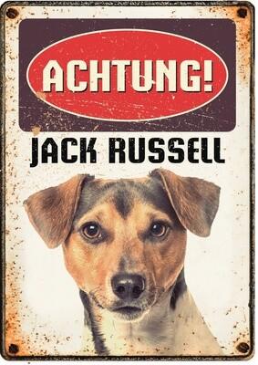 Plenty Gifts Hunde- Warnschild Jack Russell 21 x 14,8 cm