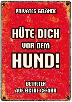 Plenty Gifts Hunde- Warnschild Hüte Dich vor dem Hund 21 x 14,8 cm