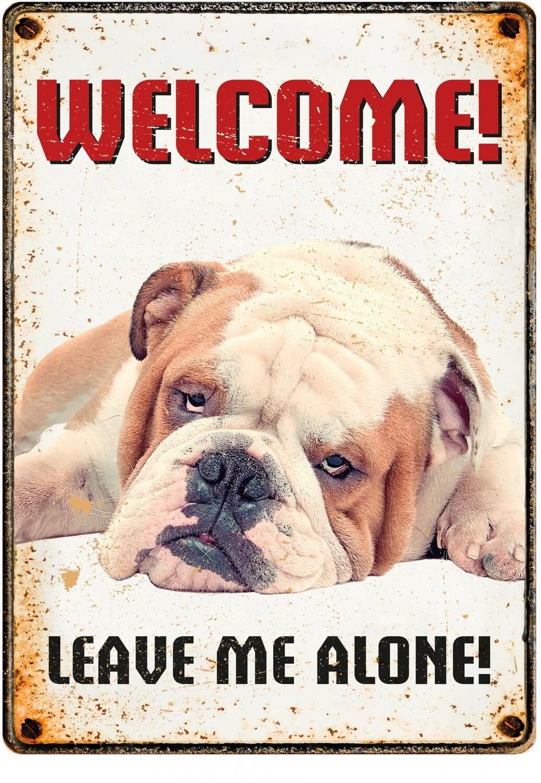 Plenty Gifts Hunde- Warnschild Grumpy Dog 21 x 14,8 cm