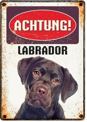 Plenty Gifts Hunde- Warnschild Labrador 21 x 14,8 cm