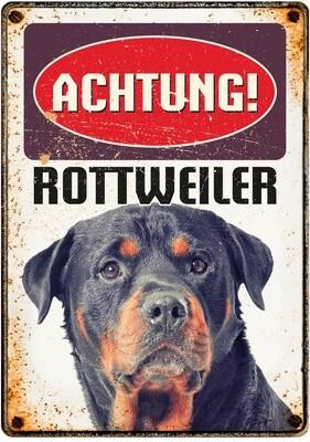 Plenty Gifts Hunde- Warnschild Rottweiler 21 x 14,8 cm